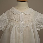 SALE Sweet Early Sheer Cotton Baby Dress Circa 1920s