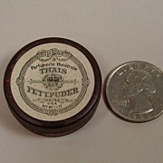 SALE Extremely Rare Antique Thais Powder Tin Ca 1903