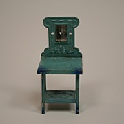 Antique German Dollhouse Tin Washstand Circa 1900s