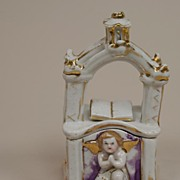 REDUCED Antique Victorian Porcelain Trinket Box Circa 1860s