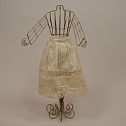 Fancy Antique Cotton Half Petticoat Circa 1900