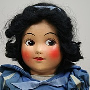 "SOLD Early 16"" Ideal Cloth Snow White Doll Circa 1937"