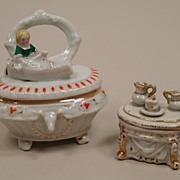 REDUCED Two Early Conta & Boehme Trinket Boxes Circa 1880s