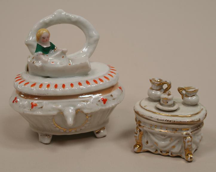 Two Early Conta & Boehme Trinket Boxes Circa 1880s