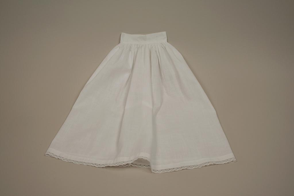 Early White Full Cotton Half Petticoat Circa 1920s