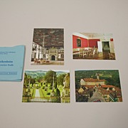 Vintage Pack Of 4 Small Souvenir Postcards Circa 1970's