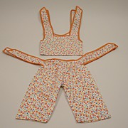 Exceptional Vintage Two Piece Doll Outfit Circa 1950's