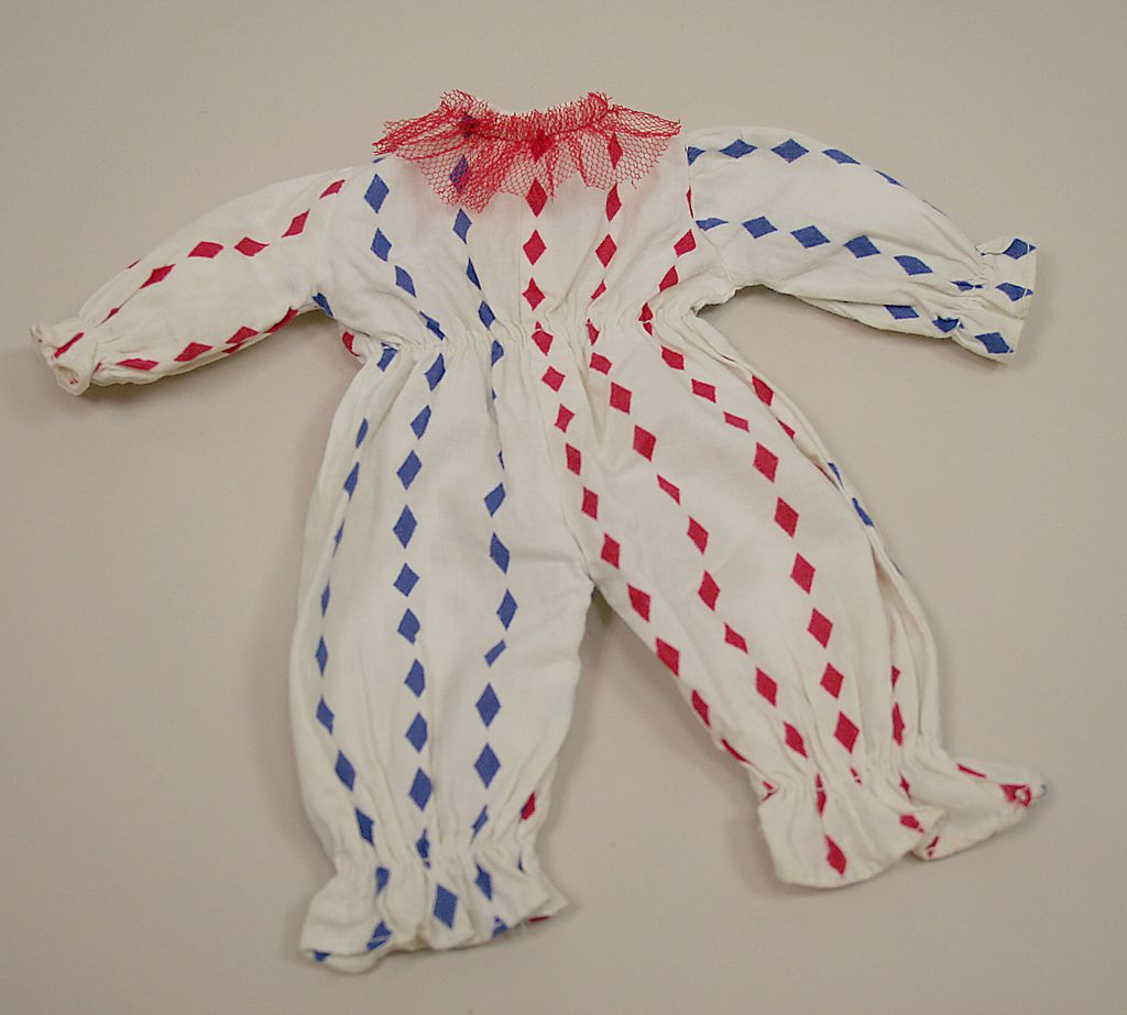 HTF Vintage Handmade Cotton Clown Outfit Circa 1940's