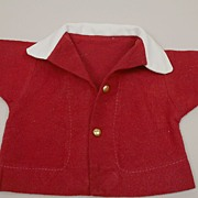 Vintage Red Brushed Cotton Jacket Circa 1950s