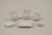 Vintage Group Of 6 Dollhouse Bathroom And Kitchen Items
