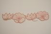 Vintage Hand Embroidered Flower Applique Circa 1940's