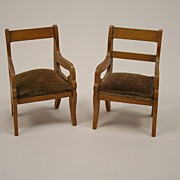 Early German Schneegas Arm Chairs Circa 1900's