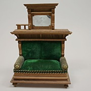 Early German Dollhouse Sofa Circa 1900's