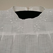 Early Sheer Cotton Baby Doll Dress Circa 1920's