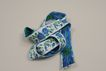 "Vintage Embroidered 1""  Blue Flowered Trim"