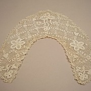 Very Vintage Cutwork Crochet Collar Circa 1920