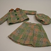 Vintage 3 Piece Hand Made Wool Suit Circa 1940's