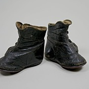 Antique Leather Doll Shoes Circa 1900's