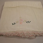 Antique Victorian Baby Carriage Blanket Circa 1890
