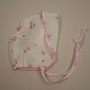 Vintage Sheer Cotton Baby  Bonnet Circa 1950