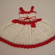Vintage Handmade Crocheted Dress Circa 1940