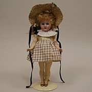 "SALE Antique 8"" German Simon & Halbig Little Girl Doll Circa 1900"