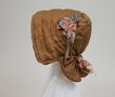 Antique  Bronze Silk  Bonnet  Circa 1880's