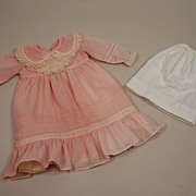 SALE Sheer Cotton Frock For Your French Doll