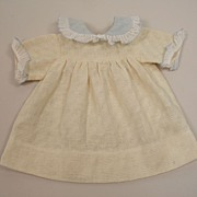 SALE Vintage French Vanilla Cream Cotton Dress