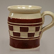 REDUCED Antique Dollhouse Earthenware Pitcher Circa 1905