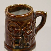 REDUCED Early Dollhouse Glazed Mug