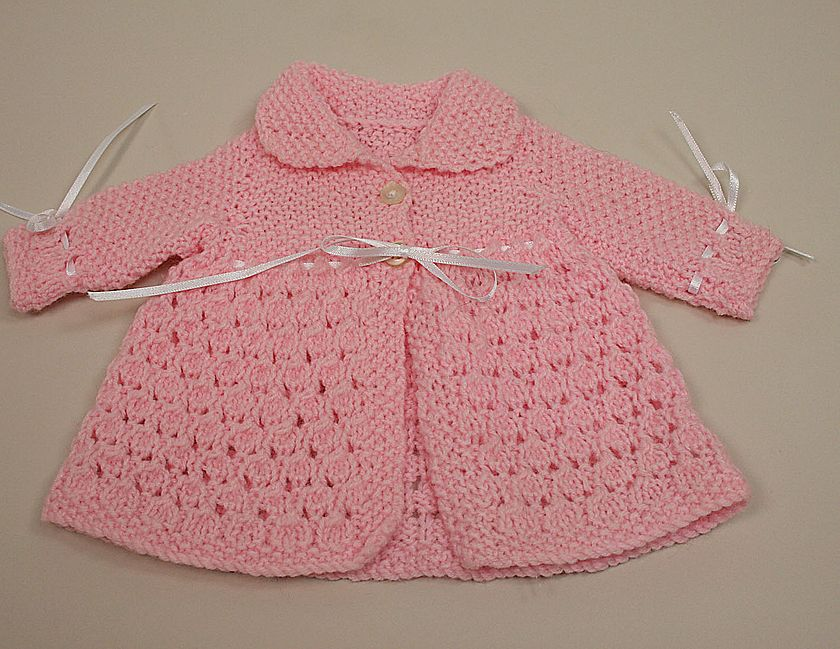 Vintage Hand Knit Pink Baby Doll Sweater