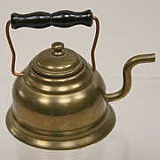 REDUCED Early Dollhouse Brass Tea Kettle Circa 1920