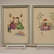 REDUCED Two Vintage Lithographs From Donald Art Company Circa 1940