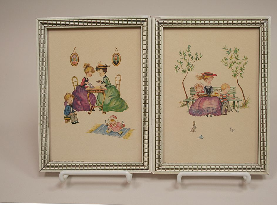 Two Vintage Lithographs From Donald Art Company Circa 1940