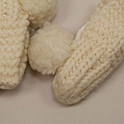 SALE Hand Made Knit Cream Baby Booties