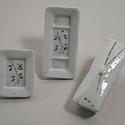 REDUCED Set Of 3 Early Dollhouse Porcelain Vanity Pieces