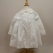 Larger Vintage White Doll/Child  Jacket