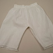 Early Wide Leg Cotton Doll Pantaloons 1900
