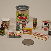 SALE Vintage Miniature Miscellaneous Dollhouse Grocery Store Items