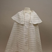 Early Cotton With Open Weave Doll Cape