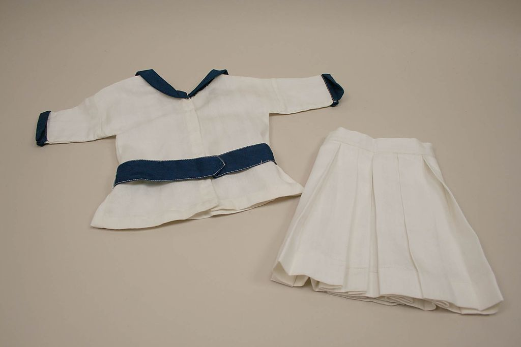 Vintage 2 Piece Cotton Sailor Skirt And Top Circa 1960