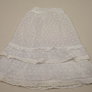 Vintage Cotton Muslin Swiss Dotted Slip Circa 1940