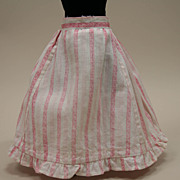 Antique Cotton Candy Pink Half Skirt Circa 1910