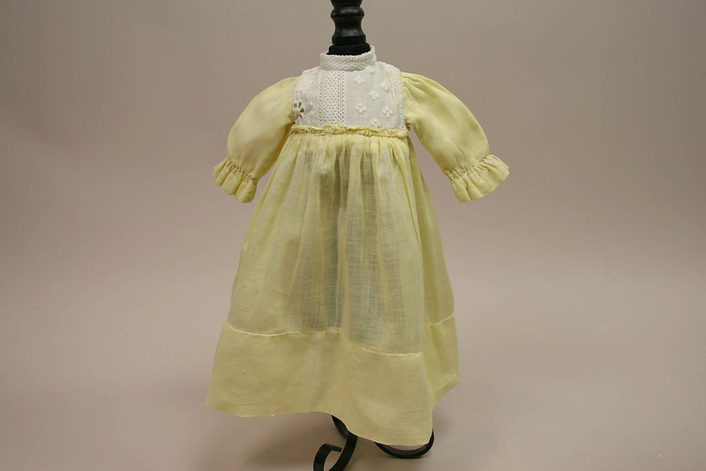 Early Hand Made Yellow Doll Dress