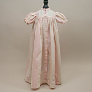 Early Cream And Pink Doll Gown Circa 1900