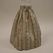 SALE Antique Cotton Print Skirt Circa 1890