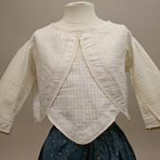 SALE Antique Cotton Windowpane Print Blouse Circa 1900