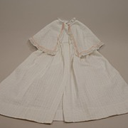 Antique Long Dressy Baby Christening Coat Circa 1900s