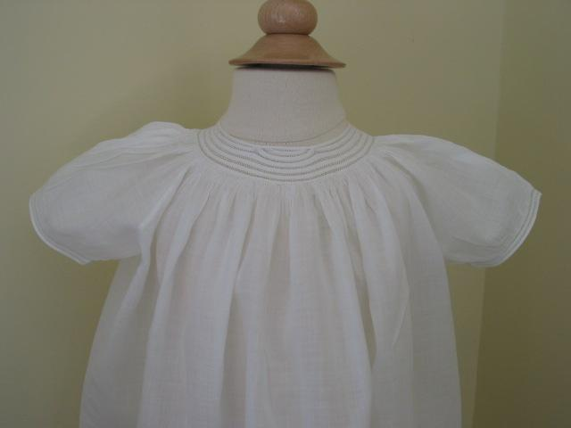 Antique Sheer Muslin Dolly Dress